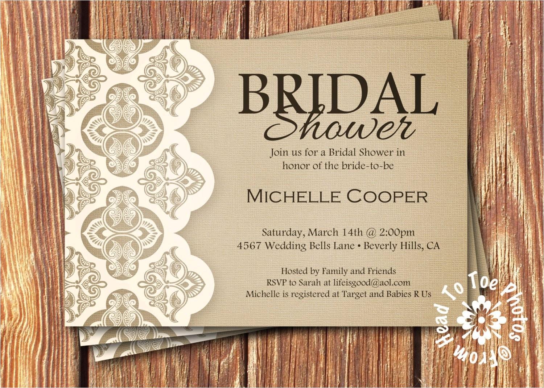 shabby chic bridal shower invitations
