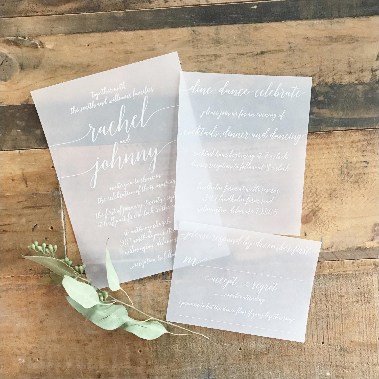 katie vellum wedding invitation suite
