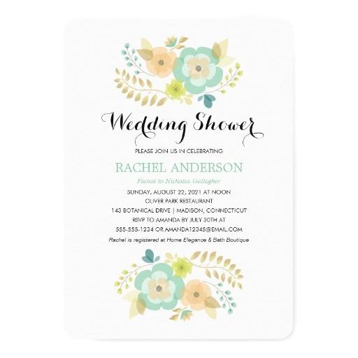 sheer summer flowers wedding shower invitation 256101568908909746