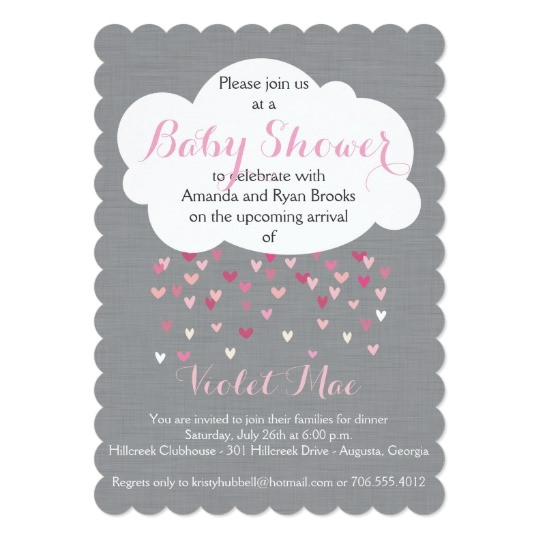 showered with love baby girl shower invitation 161080733983160067