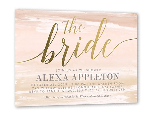 beach theme bridal shower invitations