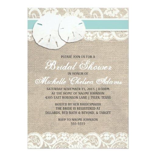 bridal shower invitations beach theme