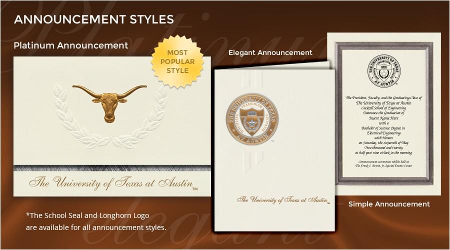 Signature Invitations Graduation University Of Texas at Austin Graduation Announcements