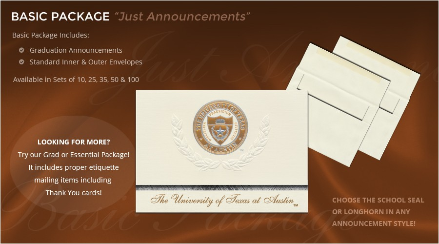Signature Invitations Graduation University Of Texas at Austin Graduation Announcements
