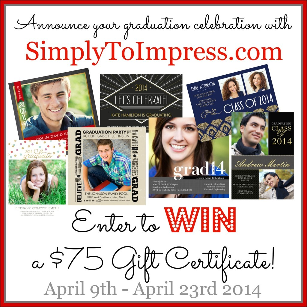 graduation announcements with simplytoimpress com giveaway