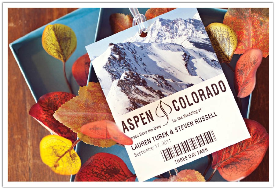 invitation to destination aspen ski pass save the date