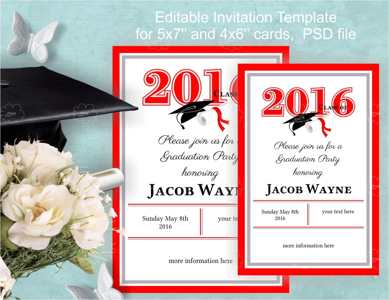graduation invitation template instant