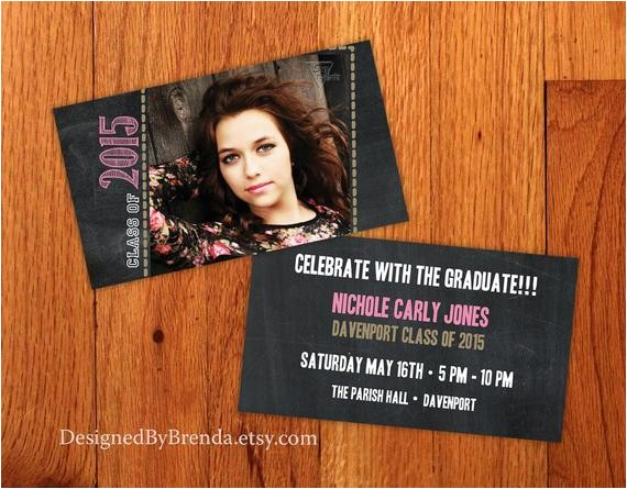 chalkboard graduation invitation small