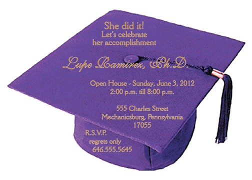 awesome designing graduation party invitation cards purple color caps accomplishment regret incredible ideas perfect