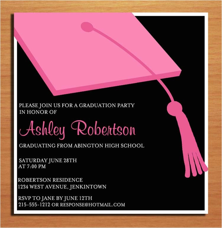 perfect creation graduation party invitation cards magnificent layouttemplate pink black color backgorung graduating party event