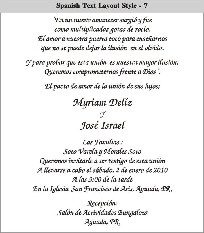 graduation invitations wording in spanish