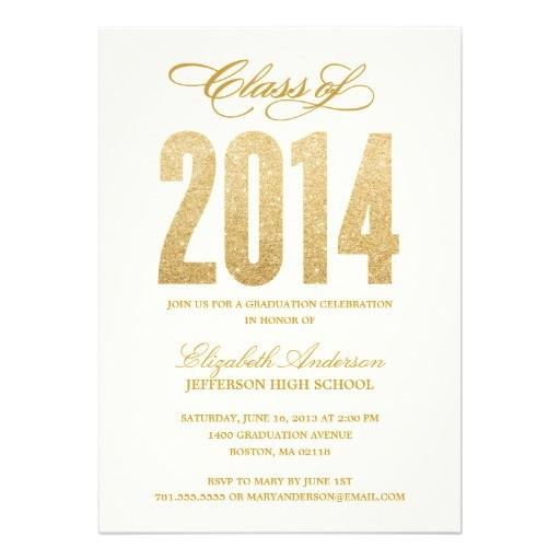sparkle graduation invitation 161142935750804725