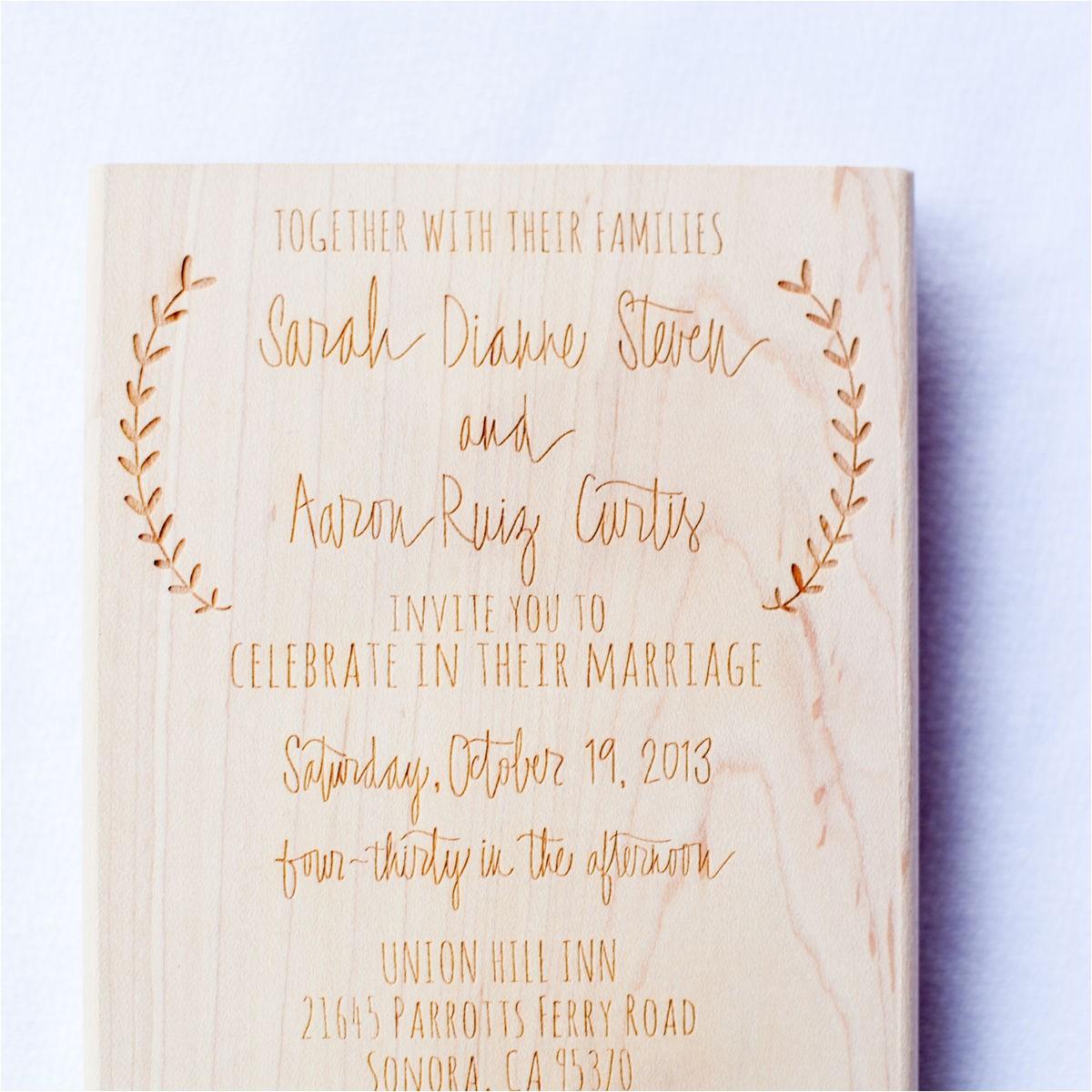 wedding invitation stamp laurel