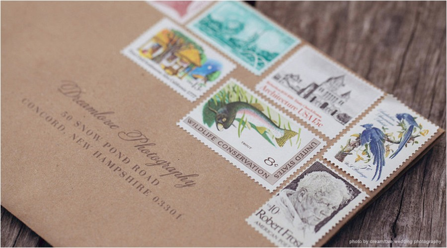 do you ever look at the stamps on the wedding invitations