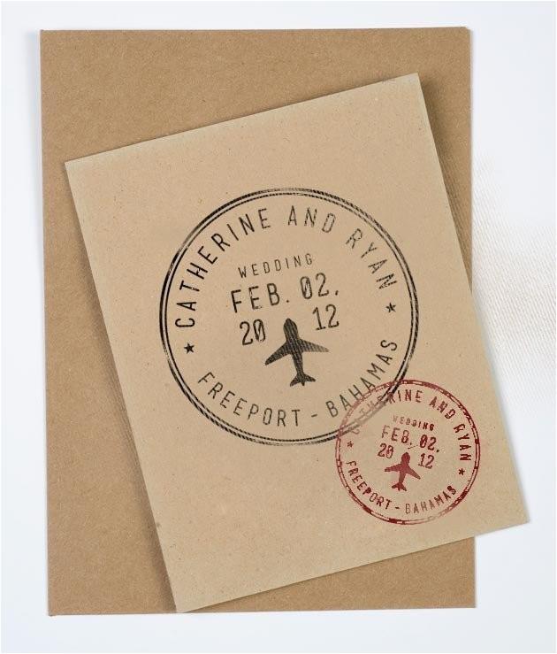 passport wedding stamp personalized
