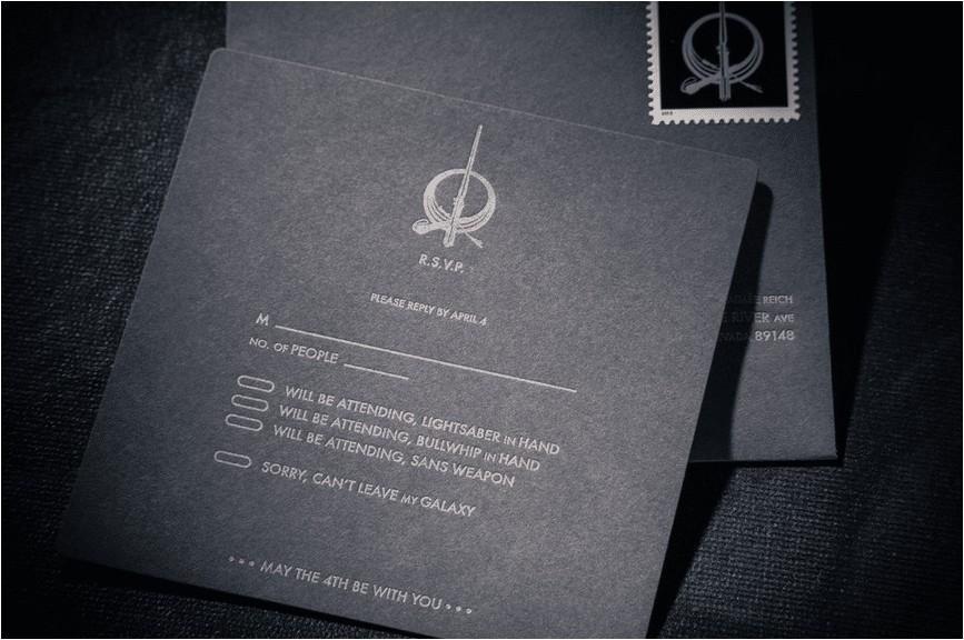 custom star wars wedding invitation