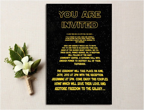 geeky star wars ideas weddings