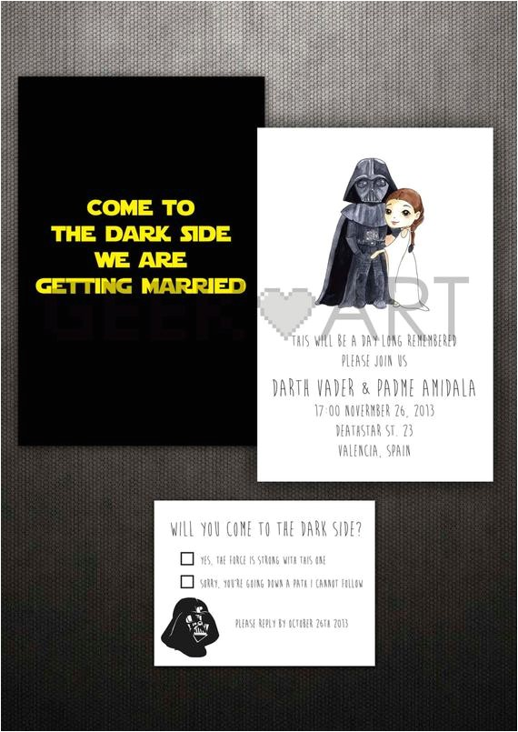 printable star wars wedding invitation