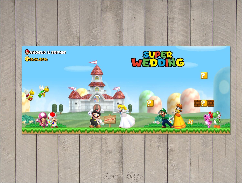wedding invitation super mario mario