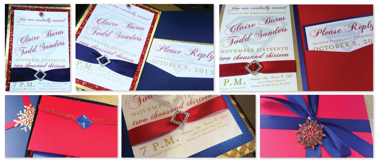 musical wedding invitations gallery