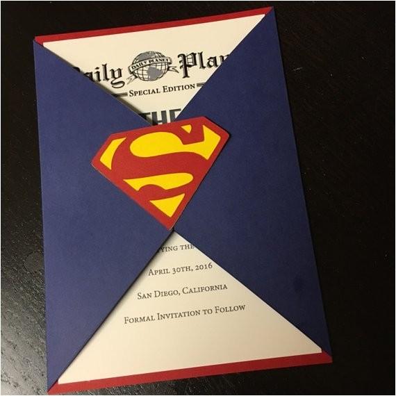 save the date superman wedding