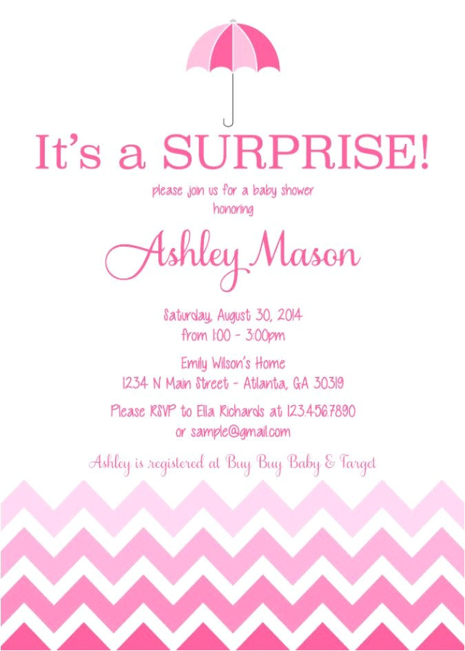 surprise baby shower invitations wording
