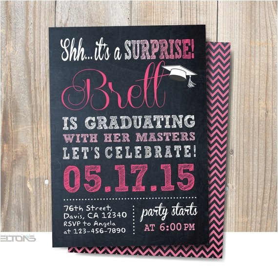 surprise party invitation graduation