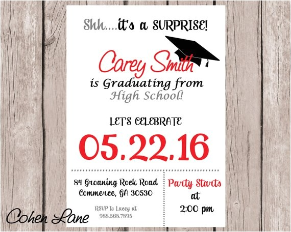 graduation party invitation graduation invite high