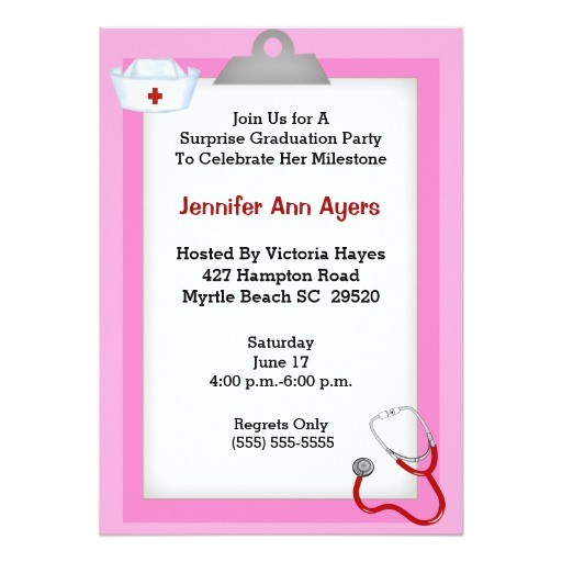surprise nurse graduation party invitation 256989477992497746