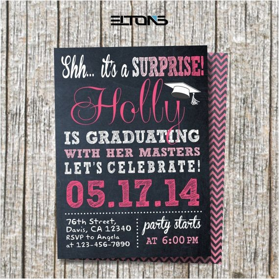 Surprise Graduation Party Invitations Surprise Party Invitation Graduation Party by Eltonslogo