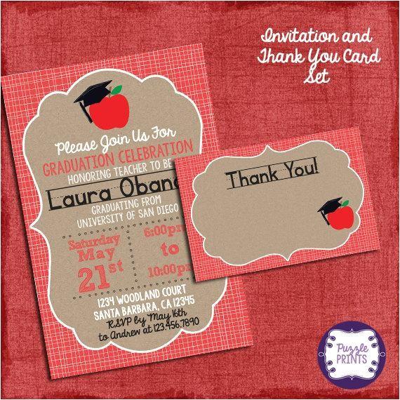 teacher graduation invitation card graduation invitation