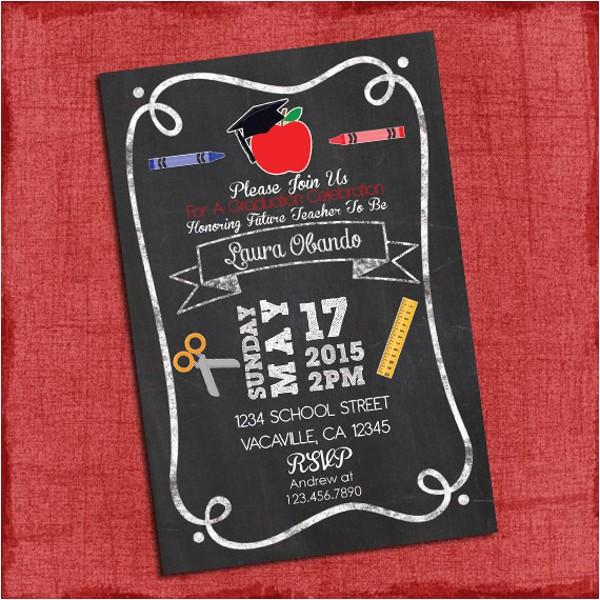 Teacher Graduation Party Invitations Graduation Party Invitations 8 Design Template Sample