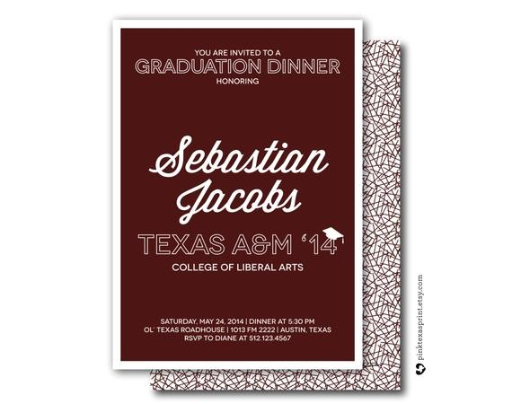 graduation invitations dinner party