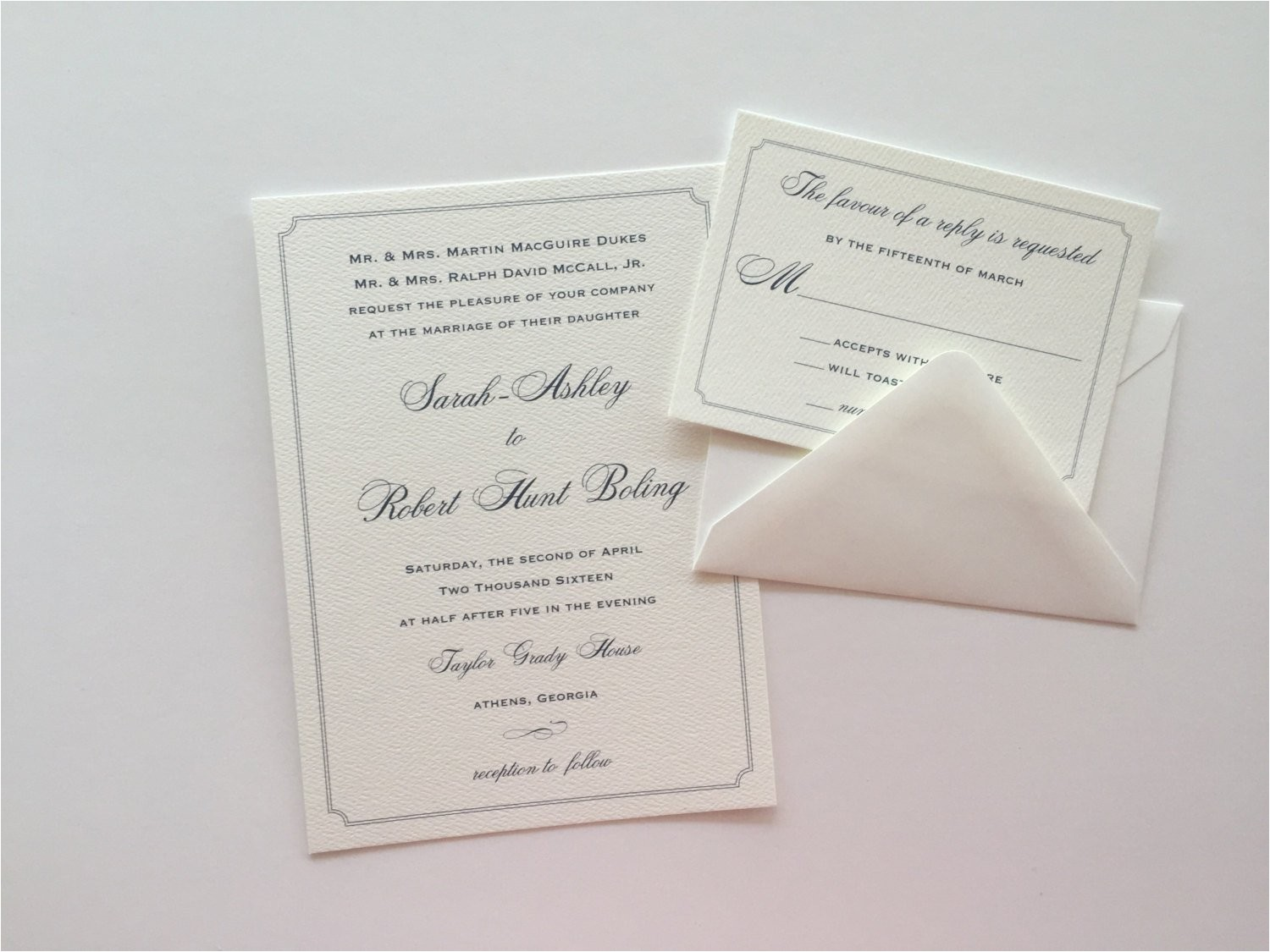 Textured Paper for Wedding Invitations Custom Wedding Invitation Textured Paper Wedding Invitation