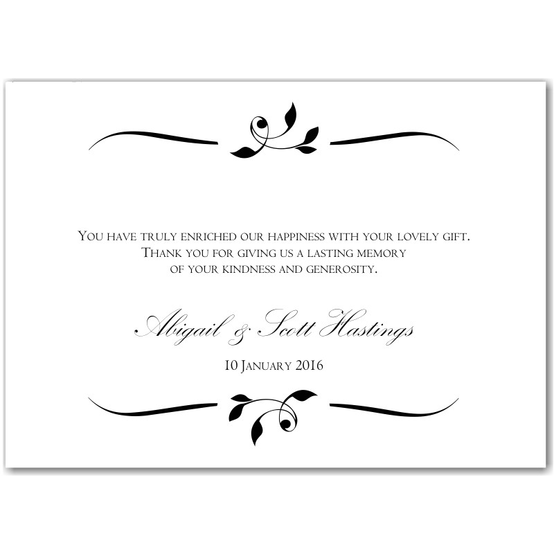 wedding invitation thank you message