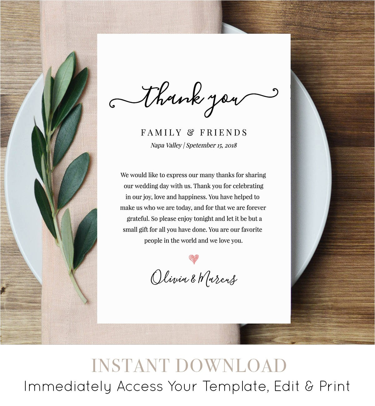 wedding thank you letter thank you note
