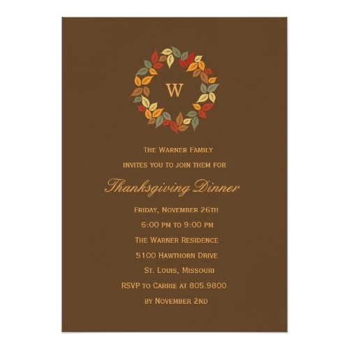 thanksgiving party invitations