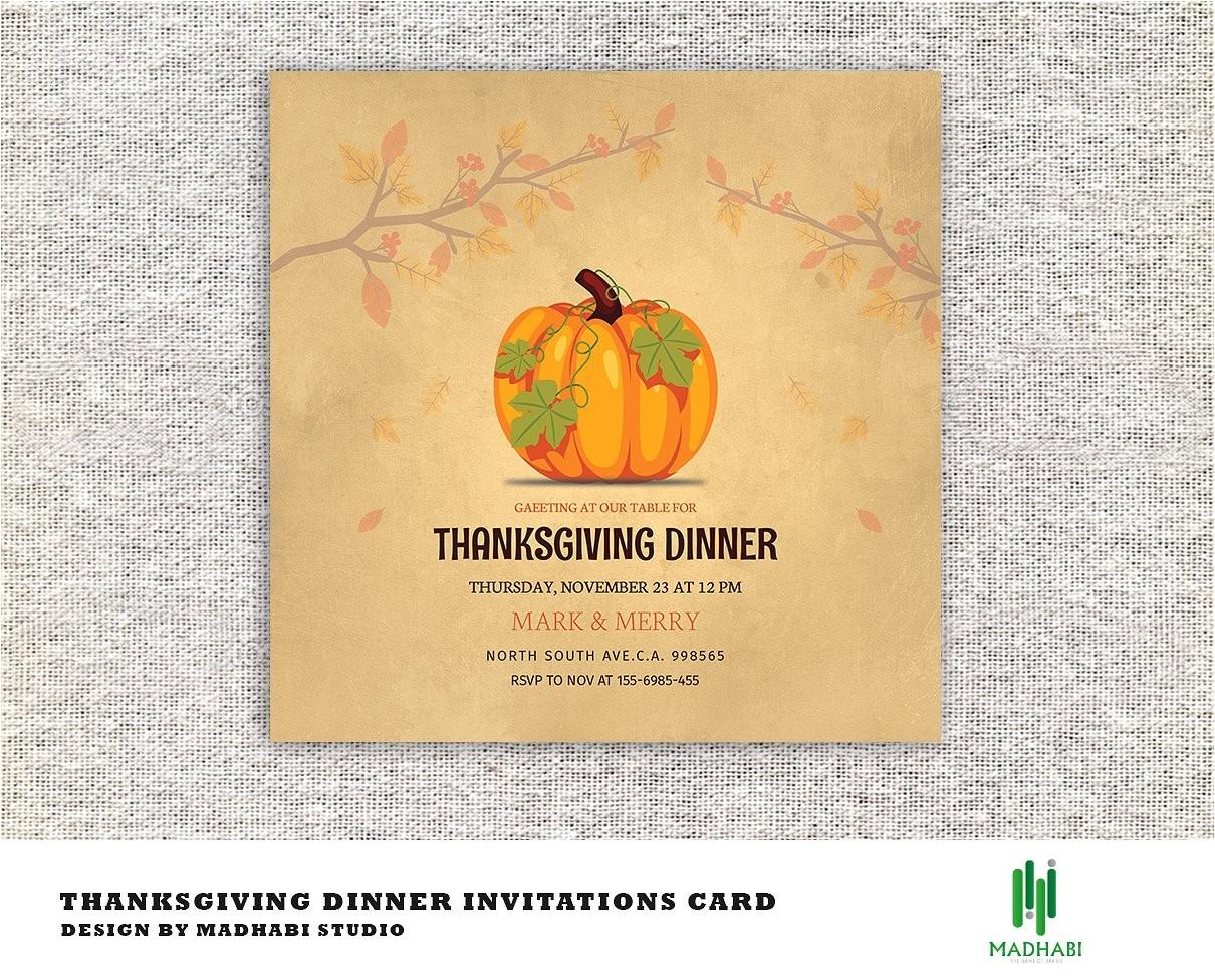 2009224 thanksgiving dinner invitations card