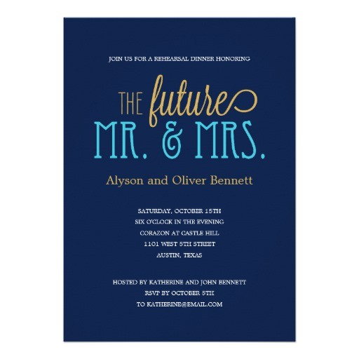 future mr and mrs rehearsal dinner wedding shower invitation 161437885116603584
