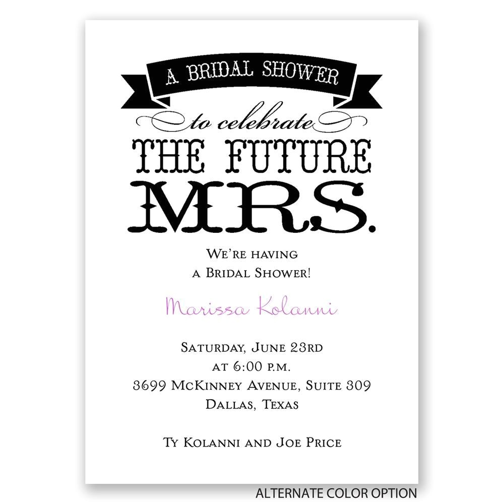the future mrs mini bridal shower invitation
