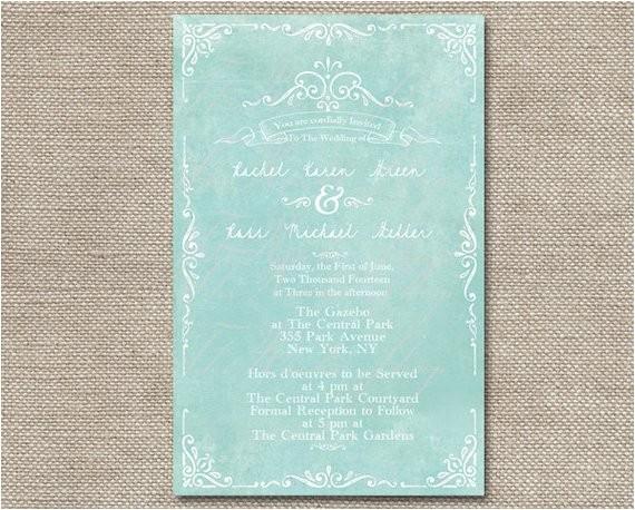 mint green wedding invitations for