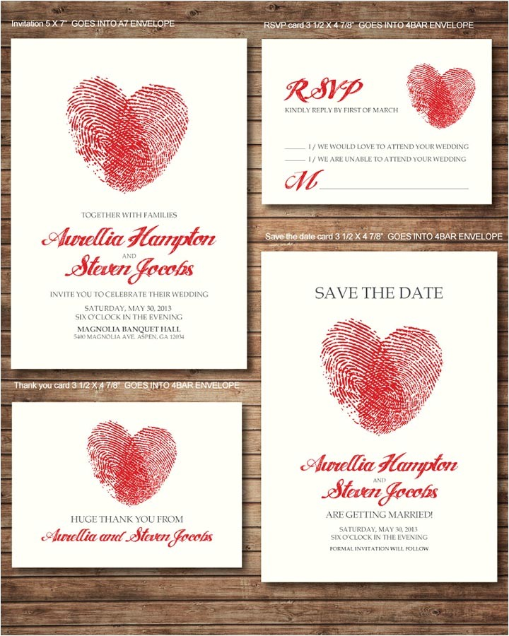 heart wedding invitations 0030054