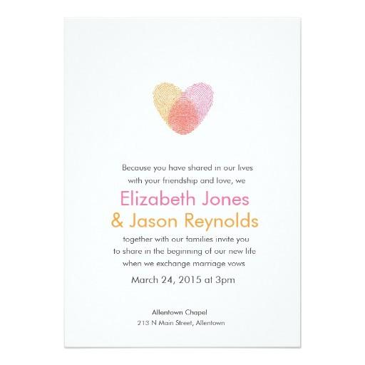 fingerprint heart wedding invitation 161905226983899285