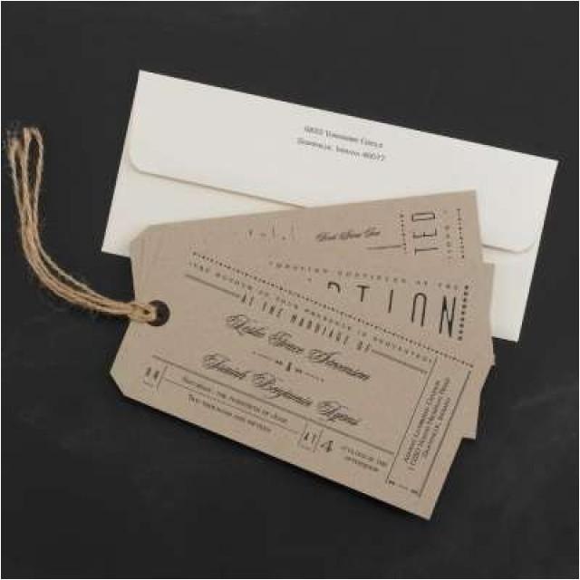 unique ticket stub wedding invitations our gallery