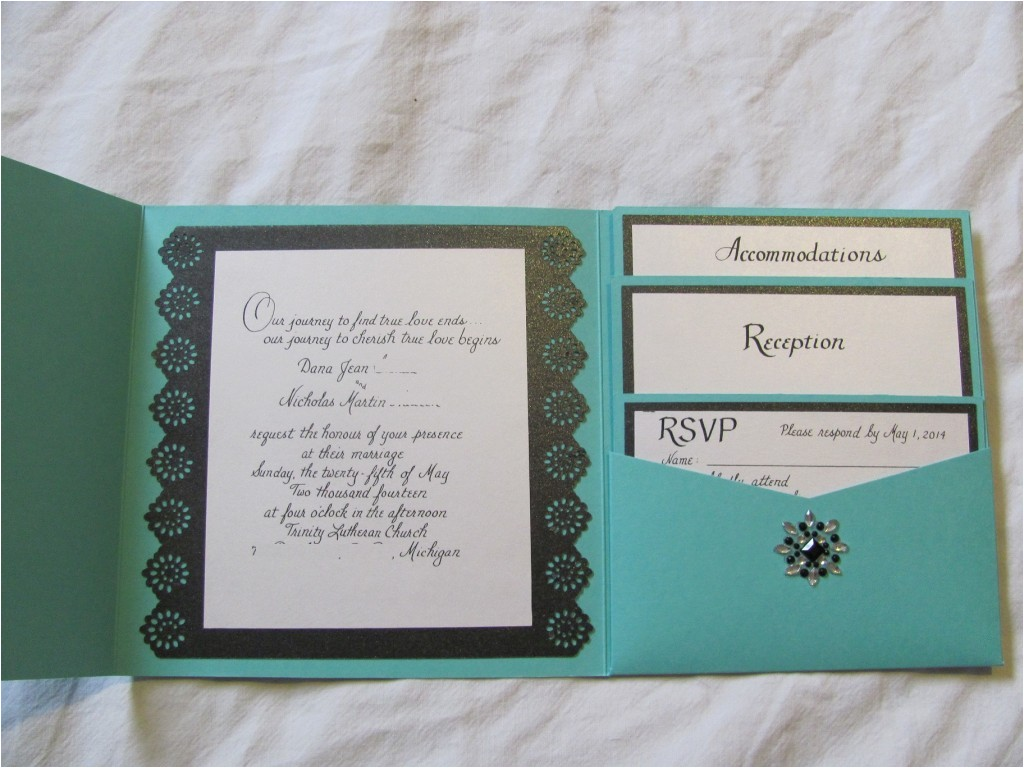 tiffany inspired wedding invitations part 1