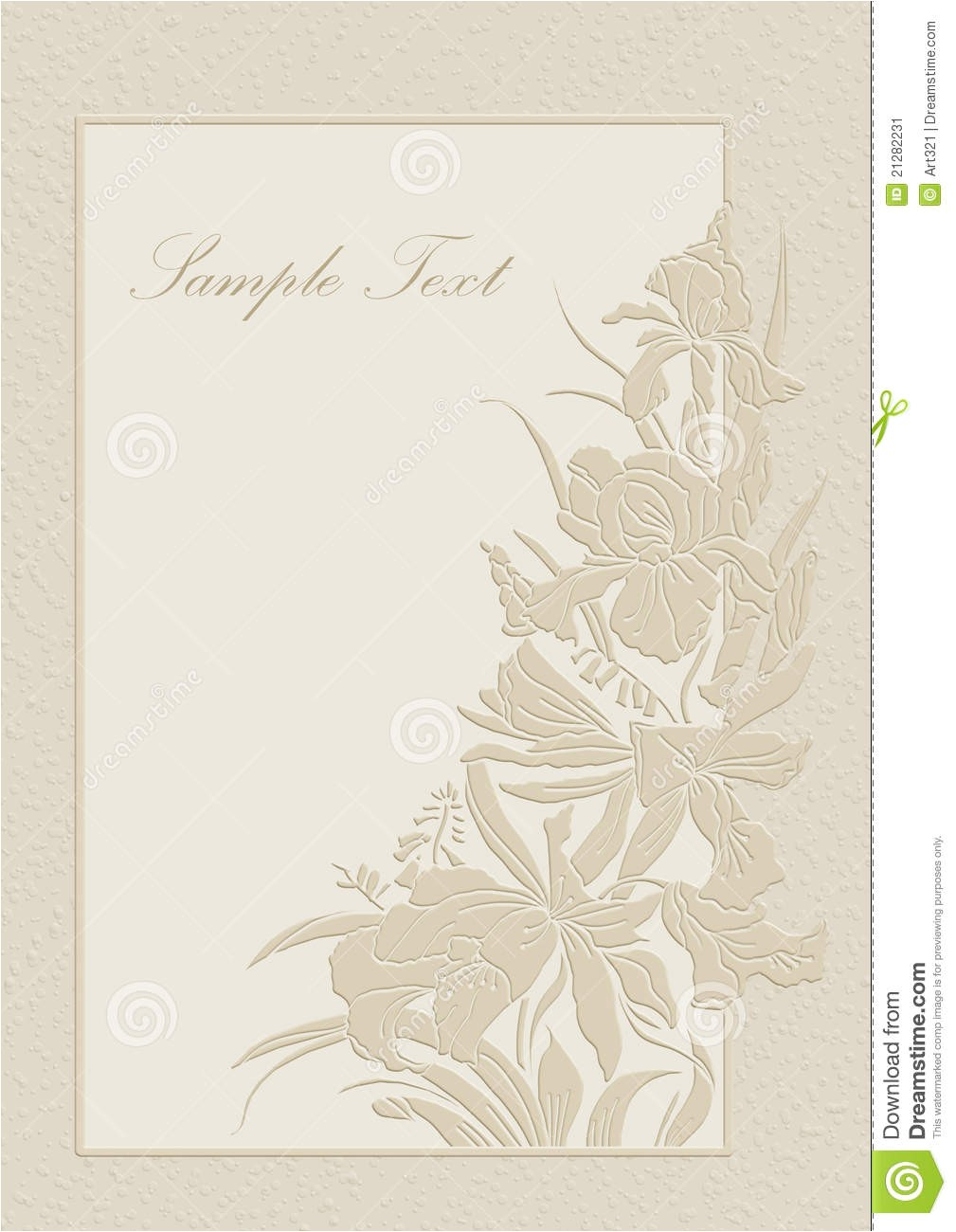 stock image wedding invitation frame orchids lilies image21282231