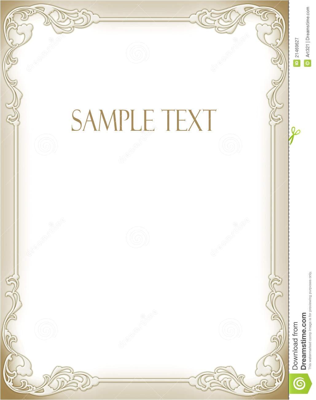 royalty free stock photography wedding invitation frame image21469627