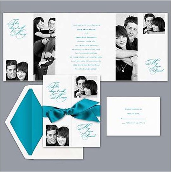 best formal wedding invitation design with ribbon decoration by david bridal
