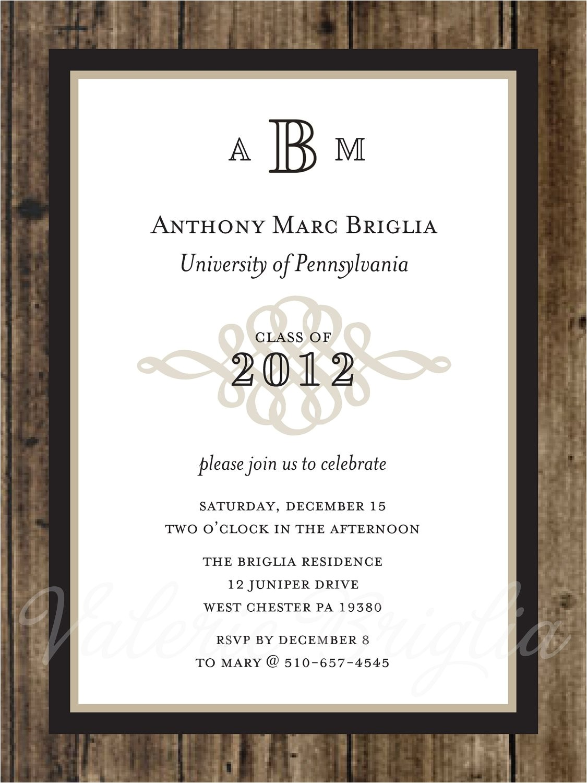 traditional graduation invitation