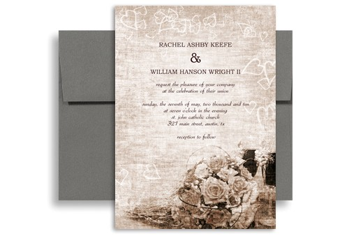 Traditional Wedding Invitations Designs Classic Traditional Roses Wedding Invitation Design 5×7 In